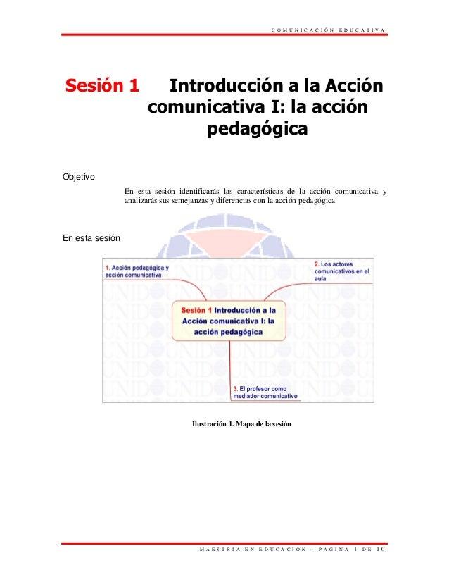 C O M U N I C A C I Ó N   E D U C A T I V ASesión 1                 Introducción a la Acción                       comunic...