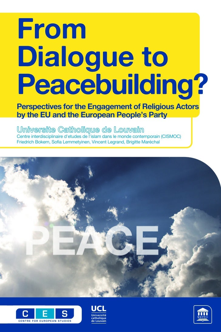 From Dialogue to Peacebuilding