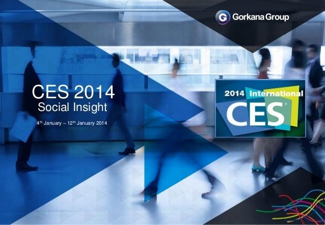 CES 2014 Social Insight 4th January – 12th January 2014