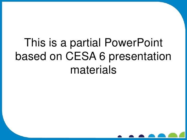 Cesa 6 effectiveness project ppt