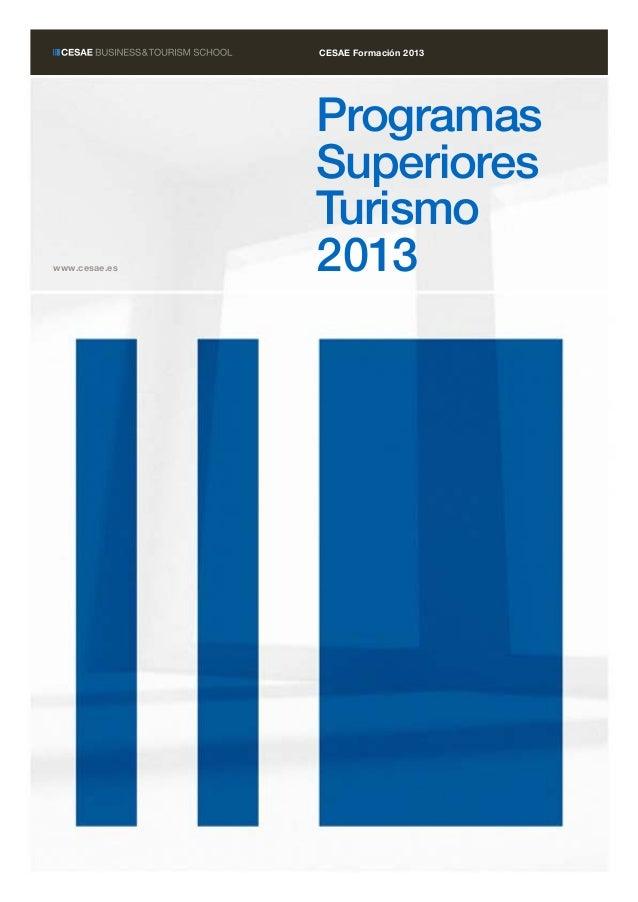 ProgramasSuperioresTurismo2013www.cesae.esCESAE Formación 2013