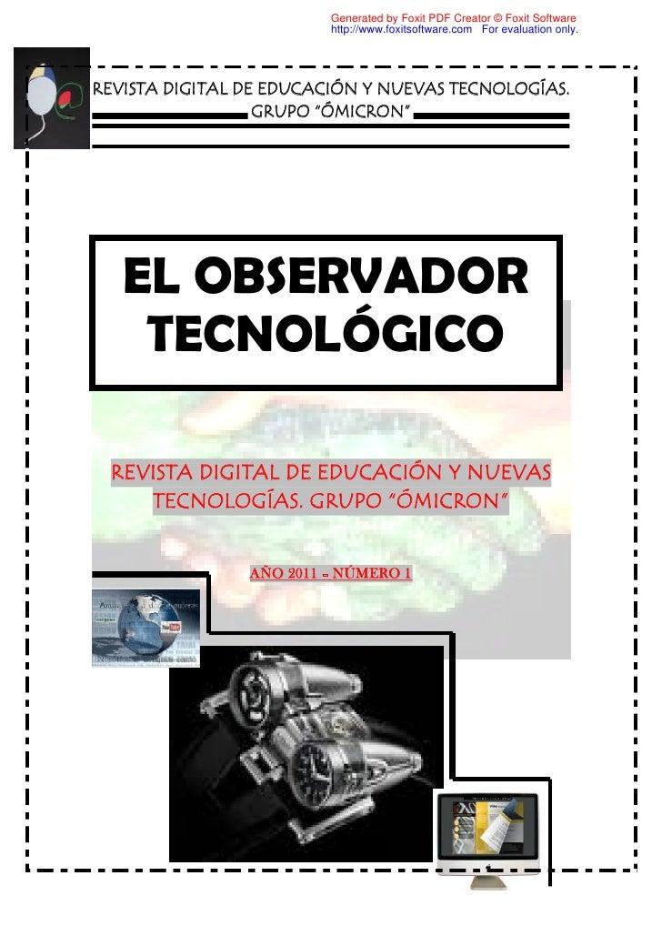 "Cesar cristian Revista Digital. ""Observdor Tecnológico"""