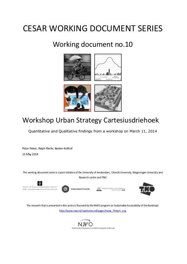 Cesar working document 10 workshop us cartesiusdriehoek pelzer klerkx kolthof