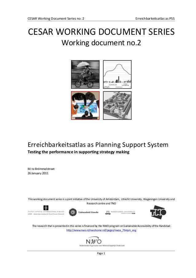 CESAR  Working  Document  Series  no.  2      Erreichbarkeitsatlas  as  PSS      Page  1     ...