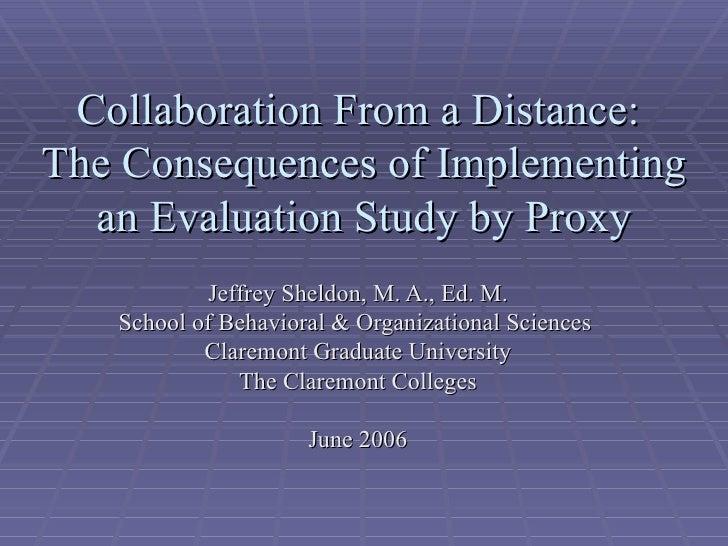 Ces Conference Presentation June 2006 J Sheldon