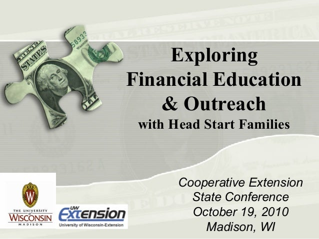 Exploring Financial Education and Ourtreach with Head Start Families