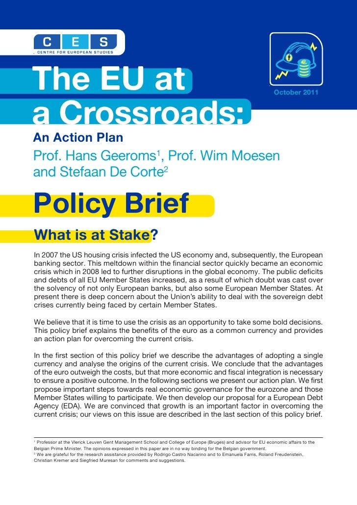 The EU at a Crossroads: An Action Plan
