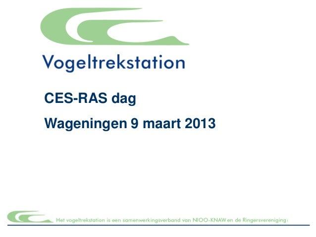 CES-RAS dagWageningen 9 maart 2013