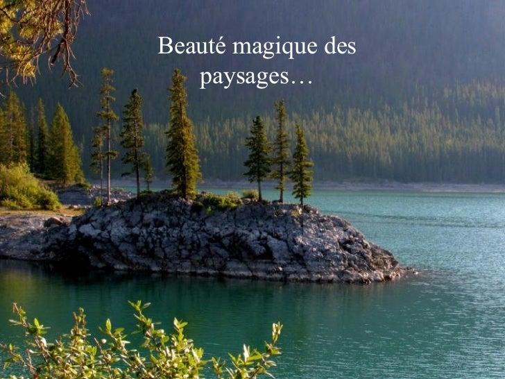 Banff Beauté magique des paysages…