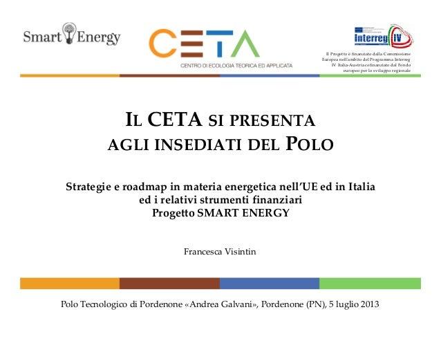 Ceta strategie e roadmap in materia energetica