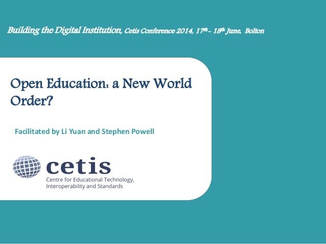 Li Yuan at Open Education session at the Cetis conference 2014