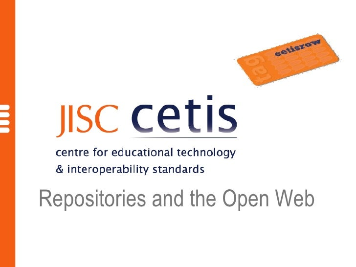 Repositories and the Open Web