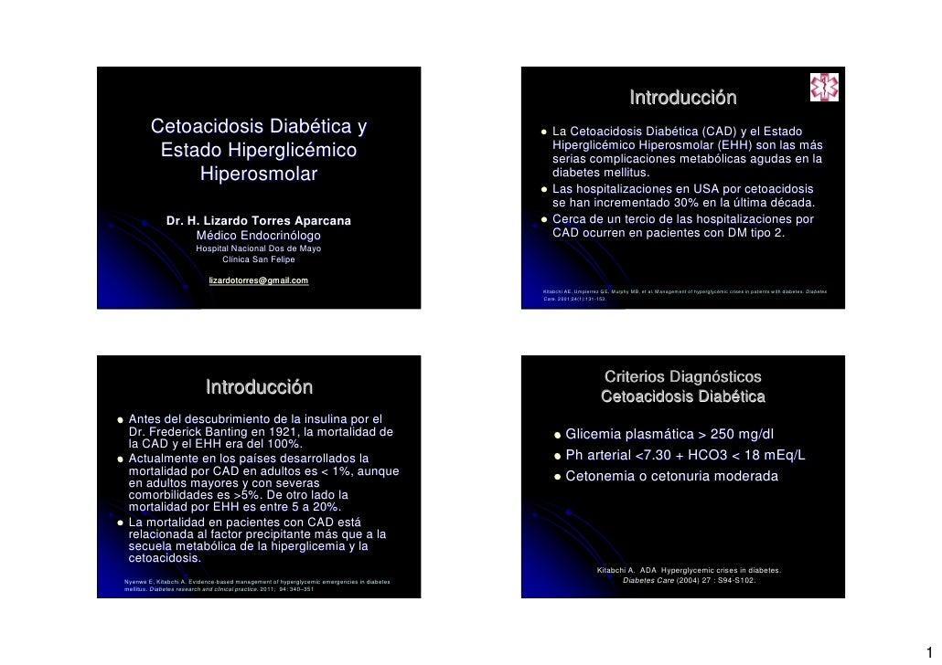 Introducción        Cetoacidosis Diabética y                                                              La Cetoacidosis ...