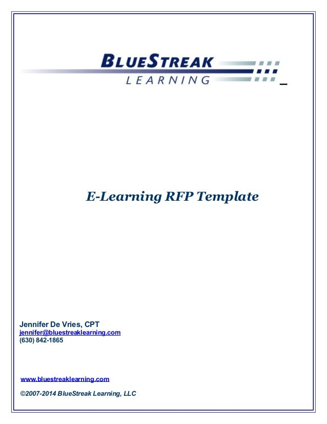 Cets 2014 devries elearning strategy rfp template
