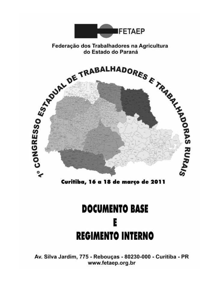Documentos base e regimento interno do CETTR