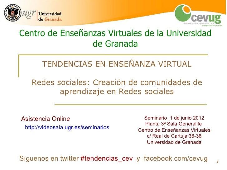 Seminario Redes sociales y comunidades de aprendizaje