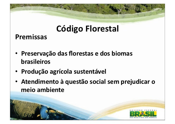 Apresentação sobre o Código Florestal