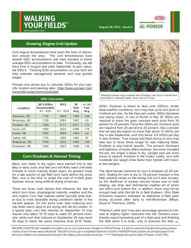 Northern South Dakota and southern North Dakota Walking Your Fields newsletter-Aug