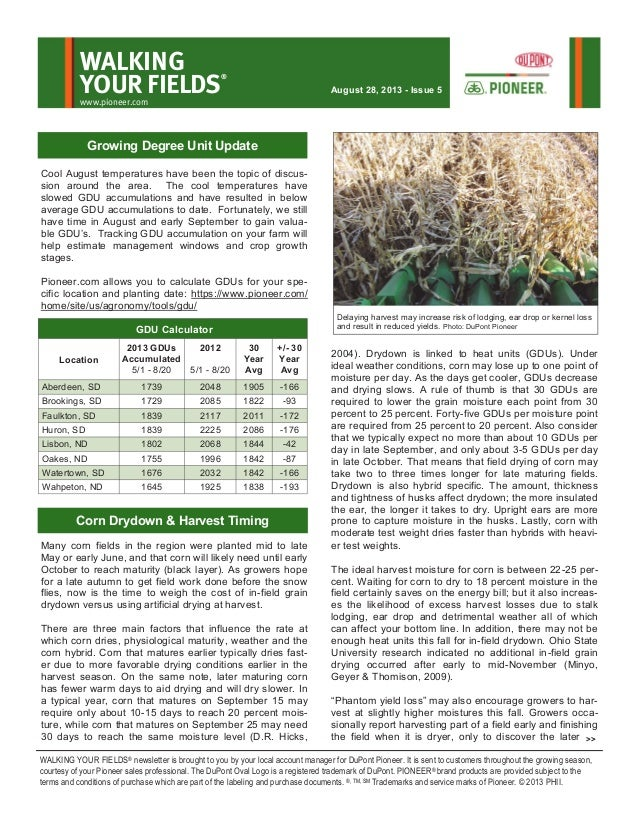 Northern South Dakota and southern North Dakota Walking Your Fields newsletter-Aug