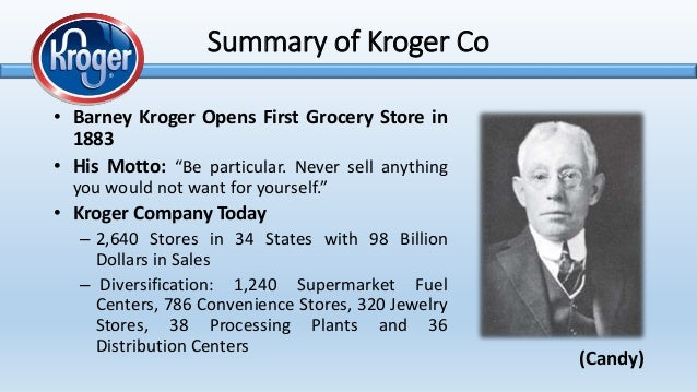 swot analysis of kroger Sears, kmart, safeway and kroger combined1 in order to address this business  analysis, it is necessary to study the  ventures, a swot analysis is done.