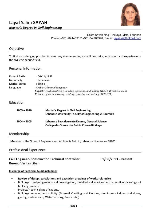 Resume For Robotics Engineer