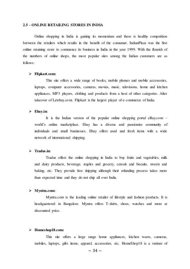 Online retailing dissertation