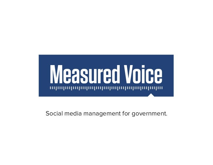 Social media management for government.
