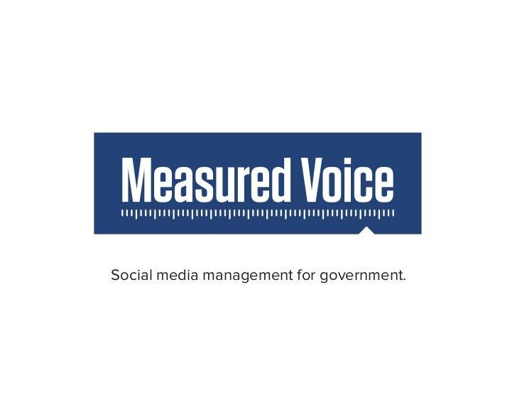 Measured Voice Presentation - Code for America Summit 2012