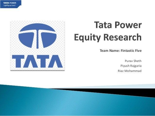 CFA Challenge - Tata Power
