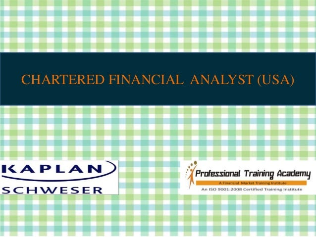 CHARTERED FINANCIAL ANALYST (USA)