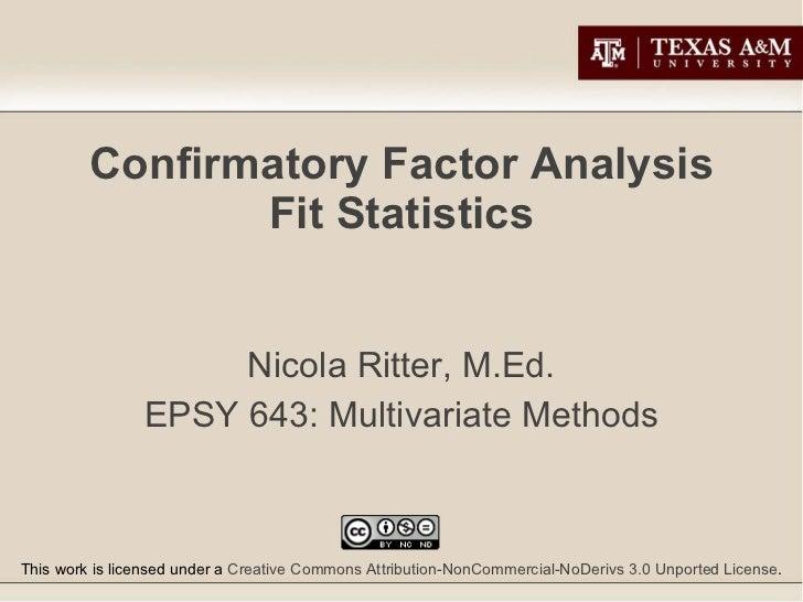 CFA Fit Statistics