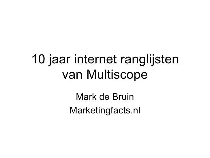 10 jaar internet ranglijsten van Multiscope Mark de Bruin Marketingfacts.nl