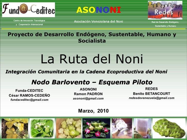 C:\Fakepath\2010 Fundaceditec Redes Asononi  Barlovento La Ruta Del Noni