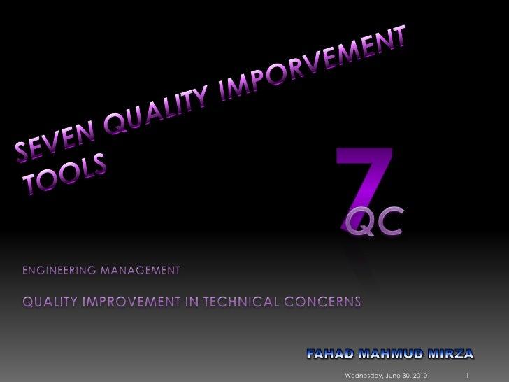 7 Quality Control Tools (SQC Model) [MARCH 2009]