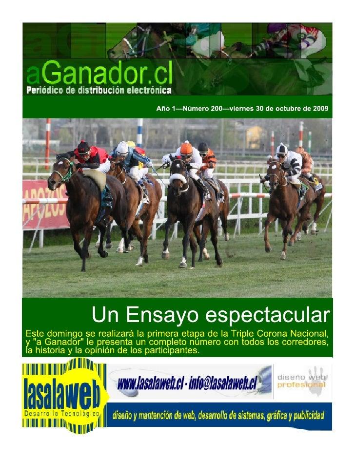 aGanador.cl        La fiesta de El Ensayo Por Carlos Heller Solari Presidente del Club Hípico de Santiago                 ...