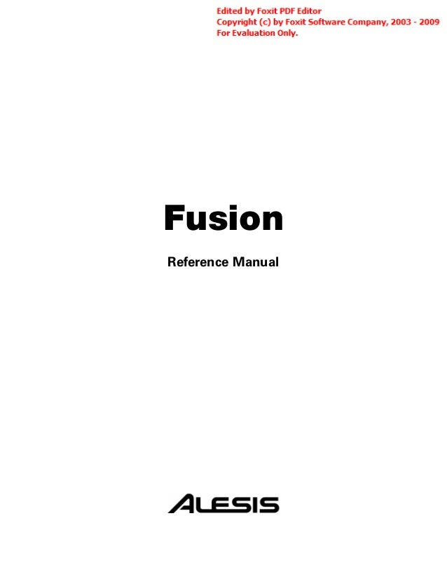 Fusion Reference Manual