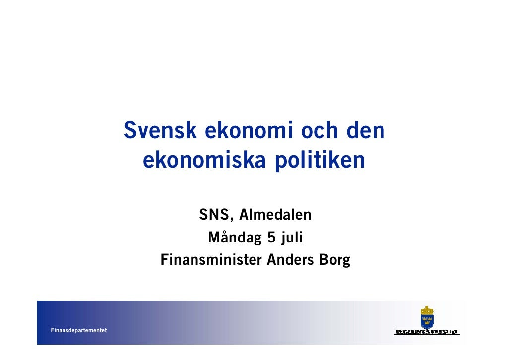 Anders Borg presentation SNS seminarium