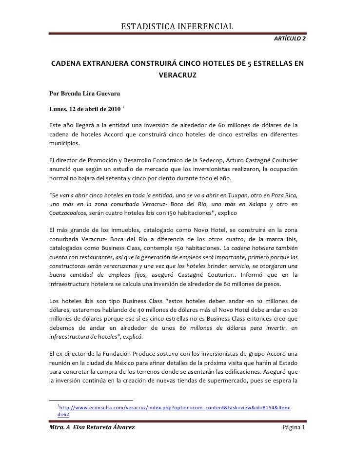 CADENA EXTRANJERA CONSTRUIRÁ CINCO HOTELES DE 5 ESTRELLAS EN VERACRUZ<br />Por Brenda Lira Guevara  Lunes, 12 de abril d...
