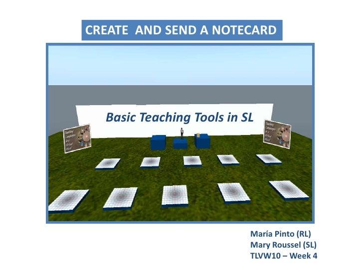 Basic Teaching Tools in SL - Workshop (1)