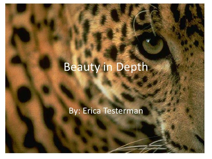 Beauty in Depth<br />By: Erica Testerman<br />