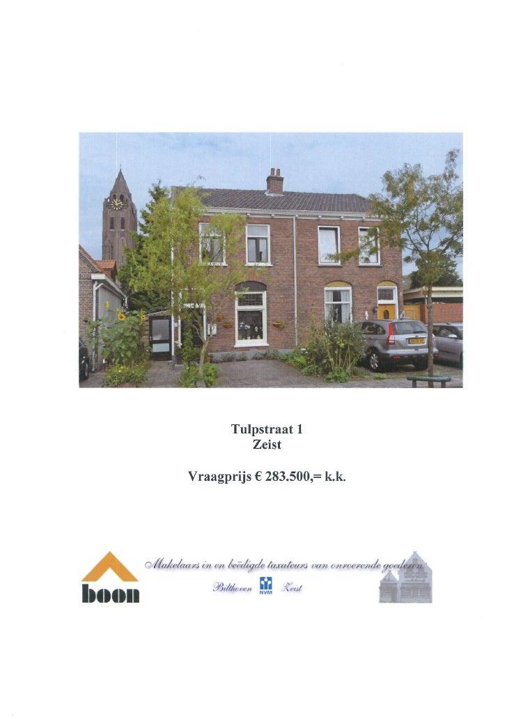 Tulpstraat 1 Zeist (www.boonmakelaars.nl)