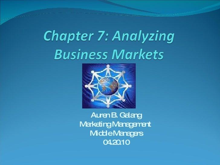Auren B. Galang Marketing Management  Middle Managers 04.20.10