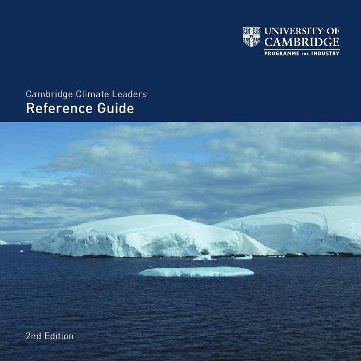 Cambridge Climate Leaders     2nd Edition Reference Guide