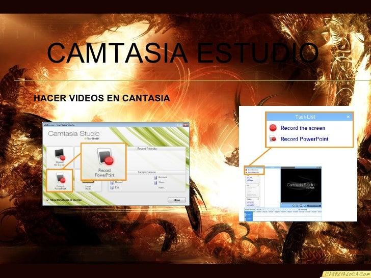 CAMTASIA ESTUDIO HACER VIDEOS EN CANTASIA