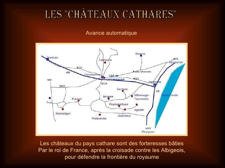 Les châteaux du pays cathare sont des forteresses bâties Par le roi de France, après la croisade contre les Albigeois, pou...
