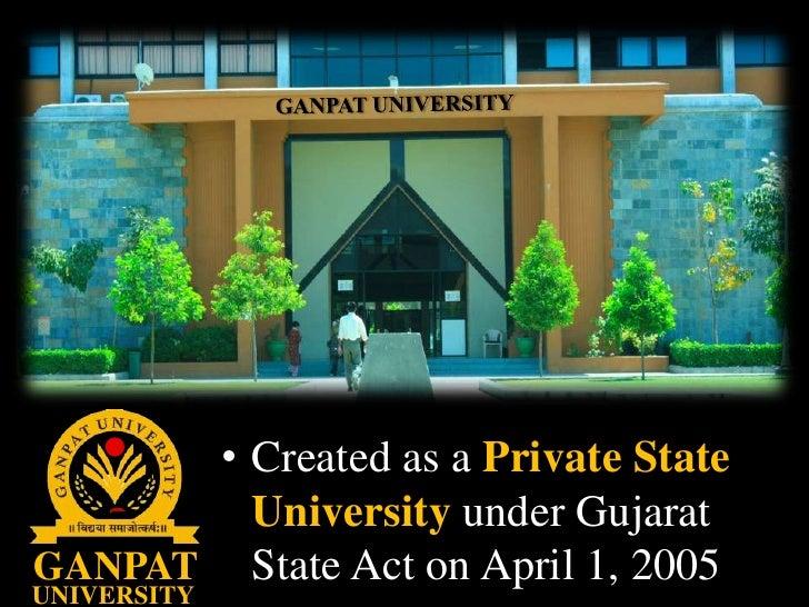 Ganpat University Gate Ganpat Universitycreated