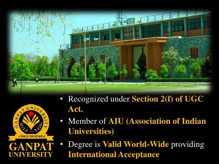 Ganpat University Gate Ganpat University