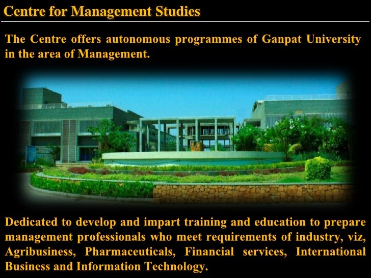 Ganpat University Gate Ganpat University in The