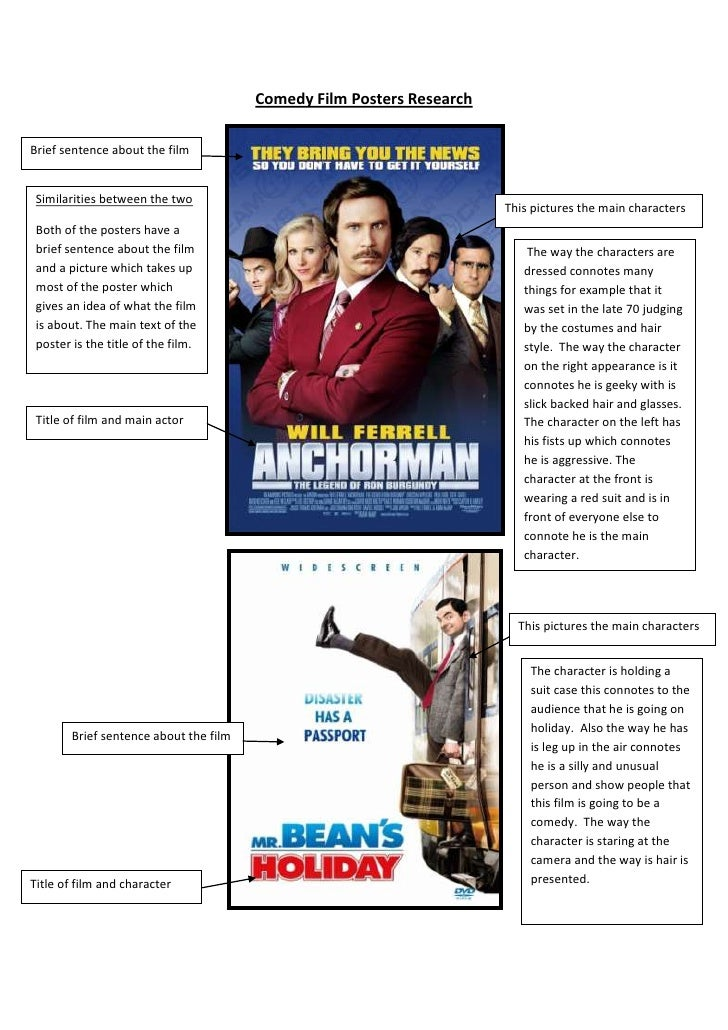 Comedy Film Posters Research<br /> The way the characters are dressed connotes many things for example that it was set in ...