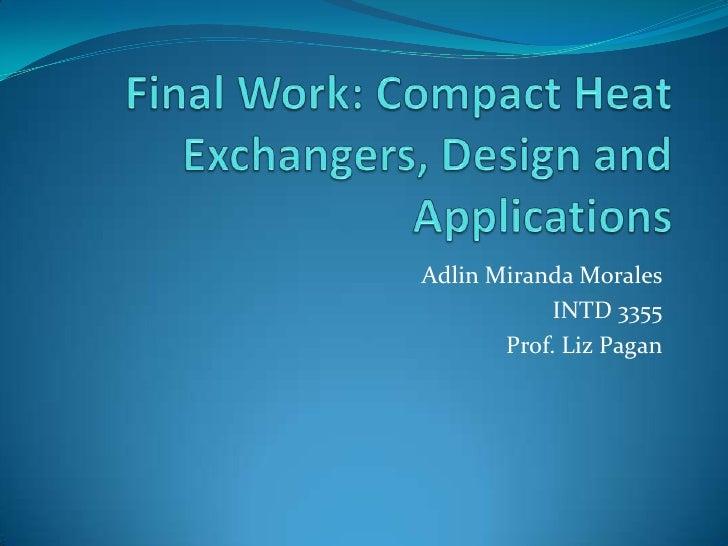 Adlin Miranda Morales             INTD 3355        Prof. Liz Pagan